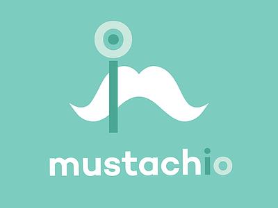 Mustachio Logo illustrator green vector logo