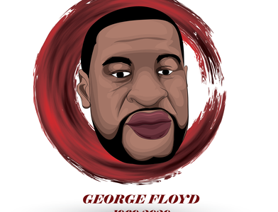 GEORGE FLOYD ART hollywood stopracism america black george floyd hiphop rapper cartoon