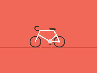 Bike Illustration red white black illustration cycle bicycle bike