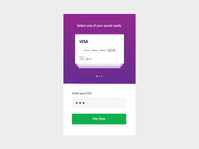 Saved cards checkout ux ui mobile checkout cards saved