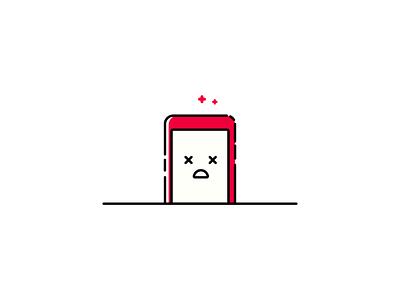 Dead phone Illustration illustration red mbe dead phone