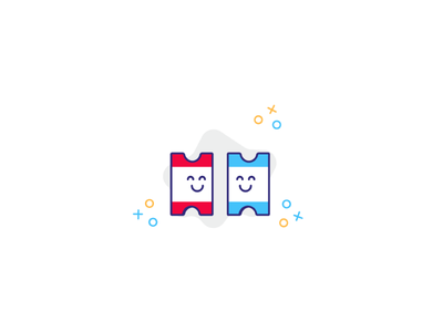 Happy coupons screen app illustration invite friend coupon