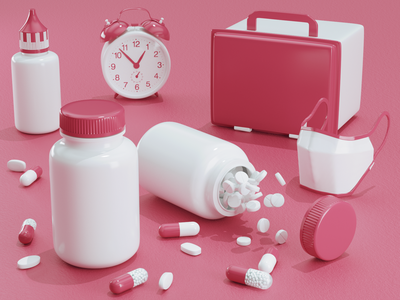 Medical drugs drugs medical 3d modeling 3d art 3d photoshop c4d modeling render ux ui illustration redshift website cinema4d icon web branding design art