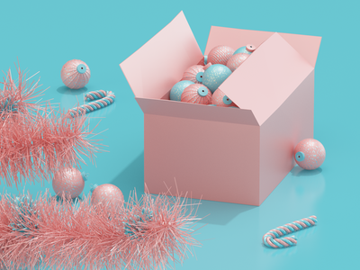 Christmas Is Coming... ball candy christmas c4d 3d art 3d modeling model render ux ui website redshift illustration cinema4d web icon branding design art