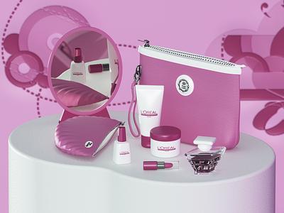 L'Oréal Professionnel uxdesign uidesign parfum 3d artist 3d art 3d cosmetic loreal render c4d ux modeling ui website redshift cinema4d web branding design art