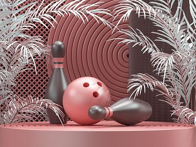 Who loves bowling? c4d bowling modeling render 3d artist 3d art 3d uxdesign uidesign ux ui illustration website redshift cinema4d icon web branding design art