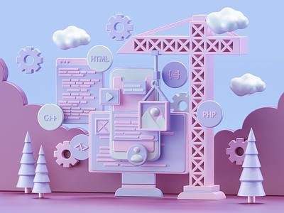UI Design Concepts designs concept render modeling c4d 3dart 3d 3d artist ui design ux ui illustration website redshift cinema4d icon web branding design art