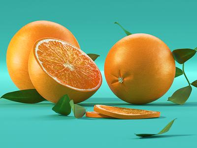 Orange c4d fruit orange 3ddesign 3d modeling 3d artist 3d art 3d uidesign ui modeling website redshift cinema4d illustration icon web branding design art