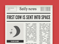 First Cow Sent Into Space (2x)