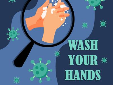 Wash Your Hands vector design art illustration