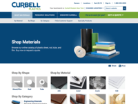 Curbell Plastics Shop Materials