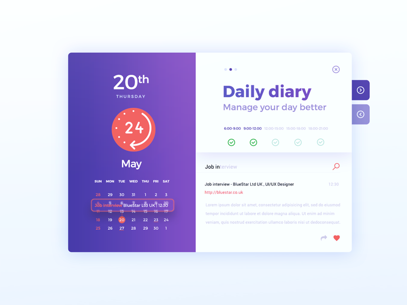 Date Picker widget schedule picker date ui daily dailyui calendar 080