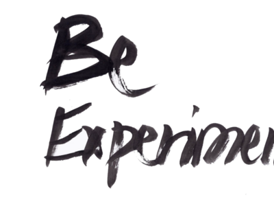 Be Experimental watercolour watercolor black and white blackandwhite photoshop brushes photoshop brush photoshop ink on paper branding logo inking ink creative