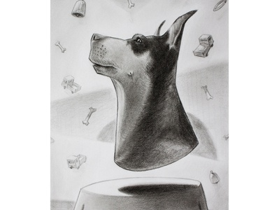 Dog portrait - pencil drawing