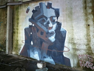 Mural in abandoned factory in Portugal