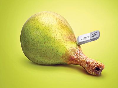 Eraser | Print Series for the Diet Clinic dima tsapko ukraine diet clinic eraser pear banana sausage chicken