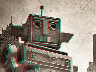 Go Beyond 3d poster go beyond digital robot ufo dima tsapko ukraine