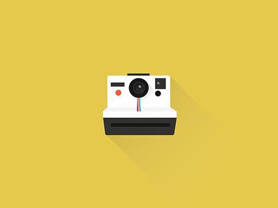 Polaroid polaroid flat icon design camera toy illustration