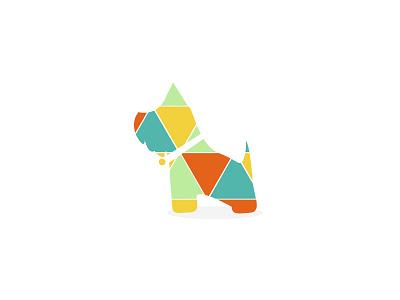 Tommy logo logo brand identity dog colourful simple pattern flat cute westie terrier