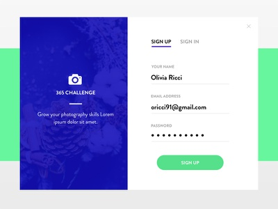 Daily UI #001 - Sign Up interface design minimal simple clean login form up sign challenge ui daily