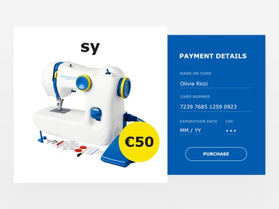 Daily UI #002 - Credit Card Checkout verdana minimal clean purchase credit card checkout product ikea challenge ui daily