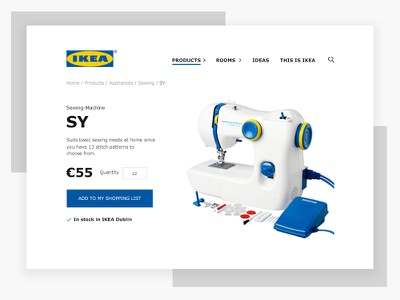 Daily UI #003 - Landing Page (Above the fold) landing challenge ui daily yellow blue simple al mini page product ikea