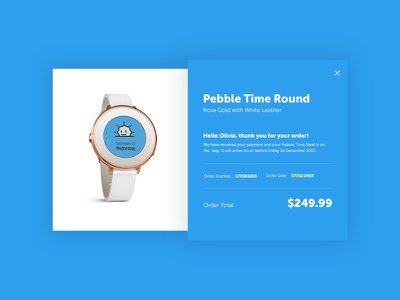 Daily UI #017 - Email Receipt receipt email minimal design layout watch round time pebble challenge ui daily