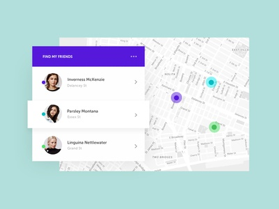 Daily UI #020 - Location Tracker clean search element gui locate find map challenge tracker location ui daily