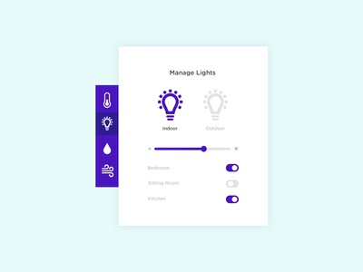 Daily UI #021 - Home Monitoring Dashboard minimal clean element challenge ui daily lights switch monitor dashboard monitoring home