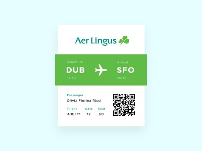 Daily UI #024 - Boarding Pass minimal clean travel aviation air element pass boarding airline challenge ui daily