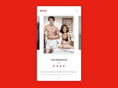 Daily UI #025 - TV App design film movies card clean netflix app tv challenge ui daily