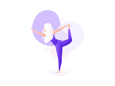 The standing bow vector purple stretch woman girl people design colour pose illustration yoga