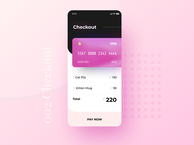 ✨Daily Design ✨ 002 Checkout payment purchase ecommerce 100daysofui figma rounded corners soft rounded mordern trendy layout cute colourful card simple design clean challenge daily ui