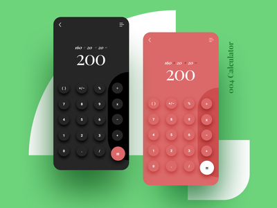 ✨004 Calculator ✨ ui design creative buttons rounded color mobile calculator app calculator colours trendy cute colourful layout simple design minimal clean challenge daily ui