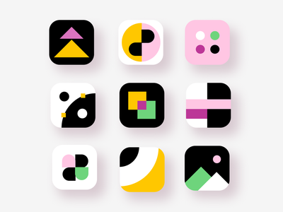 ✨Daily Design ✨ 005 App Icon trendy abstract shapes pattern geometic geometry appicon app icon cute illustration colourful simple layout design minimal clean challenge daily ui