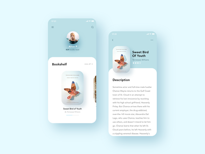 ✨Daily Design ✨ 006 Book App Profile Page framer profile book app book framerx prototype animation prototype mobile app colours animation trendy layout simple design minimal clean challenge daily ui