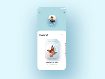 ✨Daily Design ✨ 006 Book App Profile Page