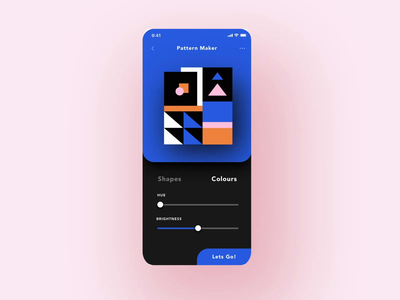 ✨Daily Design ✨ 007 Settings abstract geometric patterns framer cute trendy layout app animation colours illustration card colourful simple design minimal clean challenge daily ui