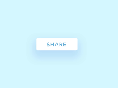 ✨Daily Design ✨ 010 Social Share micro interaction playful interaction share button exploration friendly aftereffects button animation share button social media social cute simple design minimal clean challenge daily ui