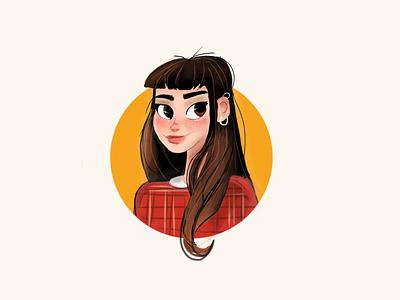 Self-Portrait 🎨✨ procreate app process person artist women girl cartoon illustration drawing sketching painting ipad ipad art art digital design character cartoon self-portrait procreate illustration