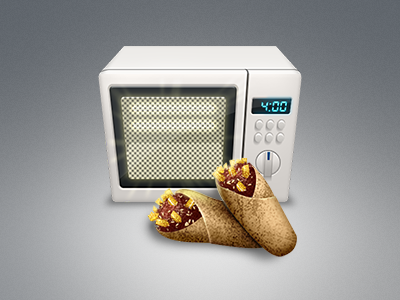 Microwave icon microwave burrito