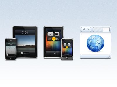 Platforms icon 128 pixel ios android web iphone ipad htc