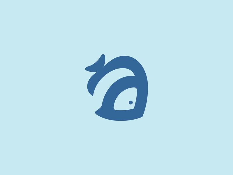 Aquatic Letter A Logo