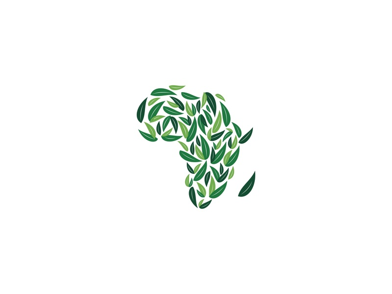 afreco continent tourism environment design wealth concept leaves logo leaf logo ecology africa unique logo unique logo creative design creative
