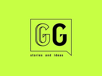 GG stories and ideas branding brand minimal minimalist type logo logo design simple typography