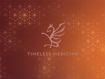 Timeless Medicine Brandmark Over Pattern