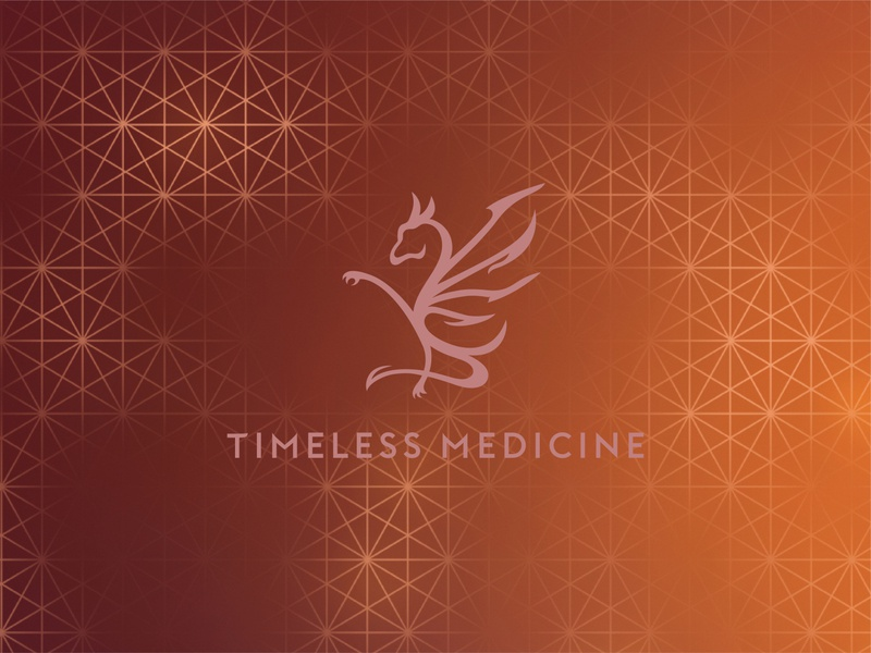 Timeless Medicine Brandmark Over Pattern