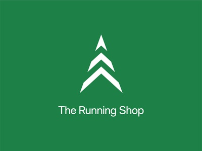 The Running Shop Brandmark Vertical Lockup