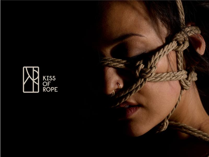 Kiss of Rope Identity Design for Shibari Artist