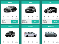 Booking - Cab Selection